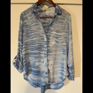 Cloth & Stone 100% rayon long sleeve blouse